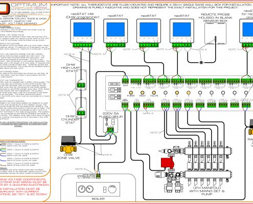 NEOSTAT WIRING DIAGRAM 495x400 electrical and mechanical diagrams optimum underfloor heating underfloor heating wiring diagram at n-0.co